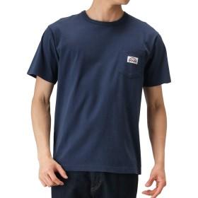 WRANGLER(ラングラー) ベーシック プリントTシャツ 半袖Tシャツ クルーネック プリントTシャツ WT5084-104 メンズ ネイビー:L