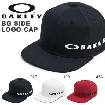 ゴルフ キャップ OAKLEY オークリー メンズ BG SIDE LOGO CAP ロゴ 帽子 平つば GOLF ゴルフウェア コンペ 景品 日本正規品 2019秋冬新作 得割10