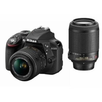 中古 Nikon デジタル一眼レフカメラ D3300 ダブルズームキット ブラック D3300WZBK