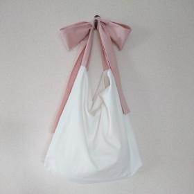 リボン結びのショルダーバッグ/ピンク(3)