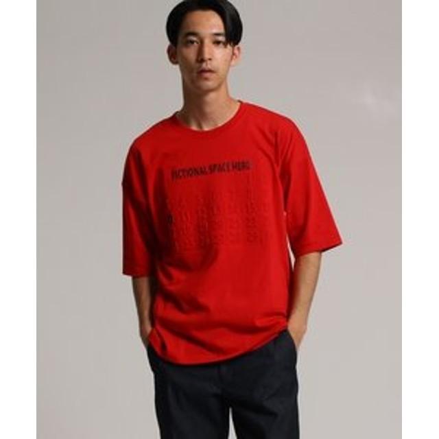 【SALE開催中】【tk. TAKEO KIKUCHI:トップス】◆エンボスロゴ Tシャツ