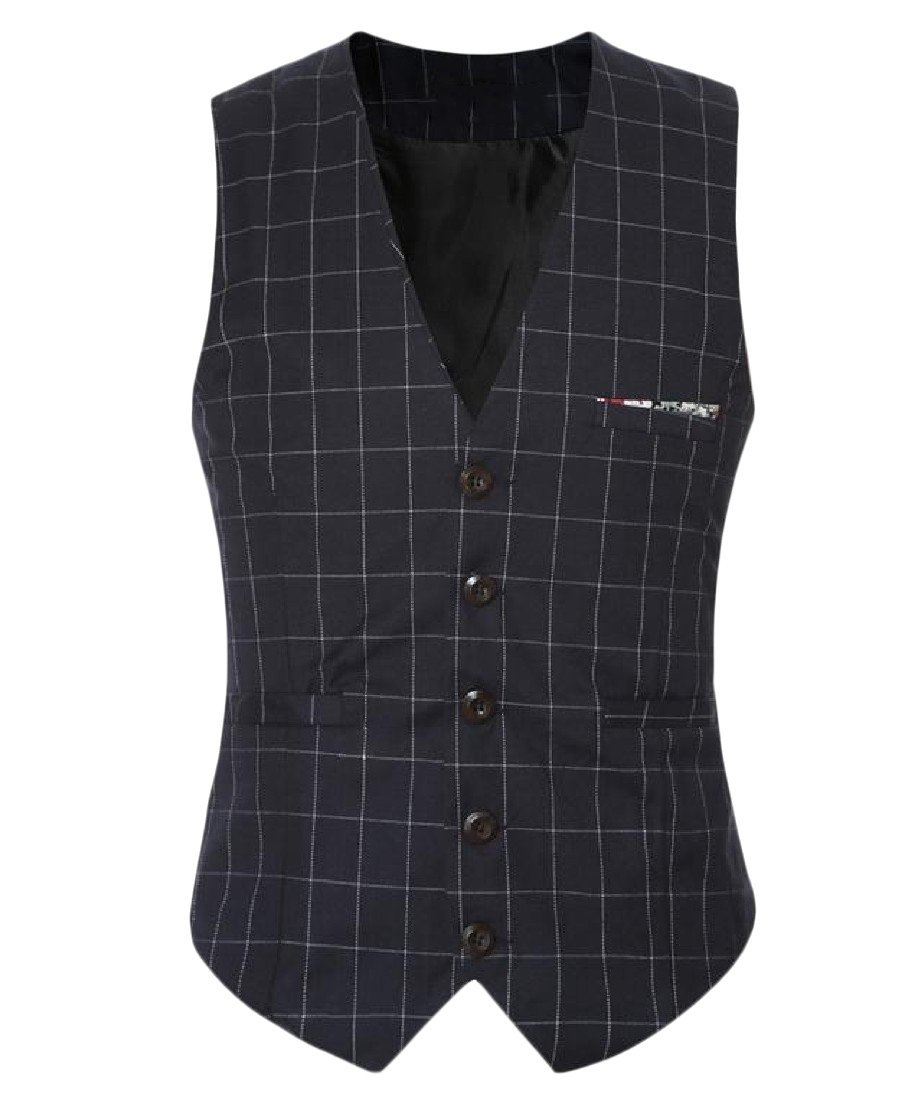 AngelSpace Mens Plus-Size Relaxed-Fit Sequin Glitter Classic-Fit Suit Vests