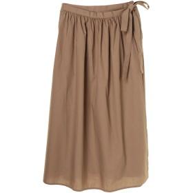 【5,000円以上お買物で送料無料】ラップ風ギャザーロングスカート