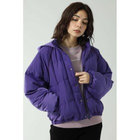 (ROSE BUD/ローズバッド)中綿ショートジャケット/レディース パープル