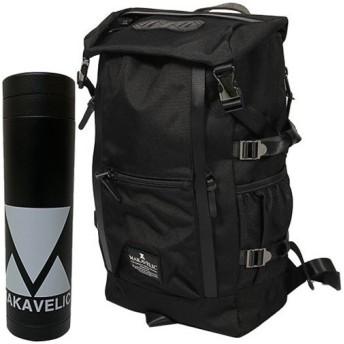 マキャベリック(MAKAVELIC) ダブルライン バックパック CHASE DOUBLE LINE BACKPACK ブラック 3106-10107/MV BTL リュックサック デイパック カジュアルバッグ