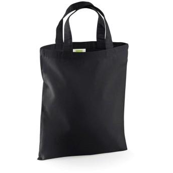 (ウエストフォード・ミル) Westford Mill ミニトートバッグ お買い物かばん エコバッグ ショッパーバッグ 4リットル (2パック) (ワンサイズ) (ブラック)