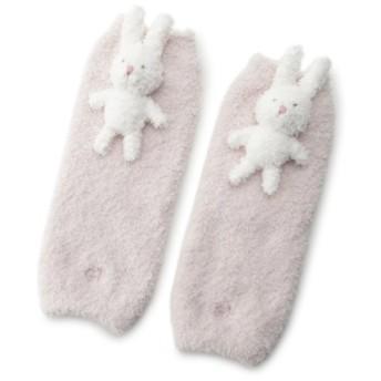 ジェラートピケ 'ベビモコ'ウサギ baby レッグウォーマー レディース PNK F 【gelato pique】