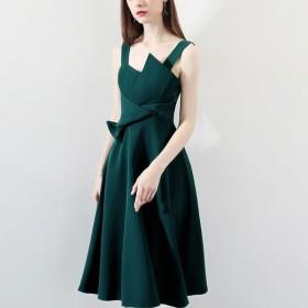 ロングワンピース レディース ドレス リボン ノースリーブ aライン 大きいサイズ ワンピース 無地 カラードレス おしゃれ フォーマル 結婚式 20代-P550