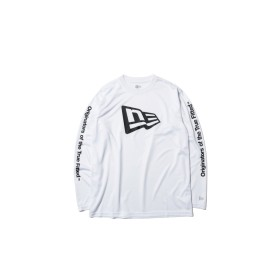 NEW ERA ニューエラ 長袖 テック Tシャツ フラッグ & Originators of the True Fitted ホワイト × ブラック Performance Apparel ロンT 長袖 ウェア メンズ レディース Medium 12156019 NEWERA