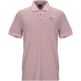 《セール開催中》AERONAUTICA MILITARE メンズ ポロシャツ ライトブラウン L コットン 92% / ポリウレタン 8%