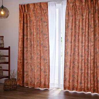 カーテン カーテン クラシカルデザインプリントの遮光カーテン