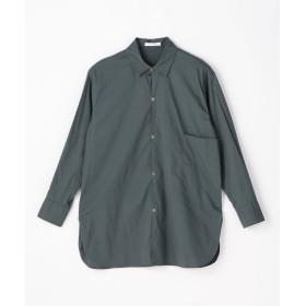 トゥモローランド コットンストレッチブロード 1ポケットシャツ レディース 55グリーン 36(9号) 【TOMORROWLAND】