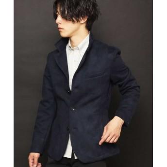 (MK homme/エムケーオム)コンバーチブルジャケット/ポンチスエード/メンズ ネイビー 送料無料
