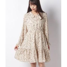 (RETRO GIRL/レトロガール)デカ衿裾ティーアードワンピース/レディース ライトブラウン