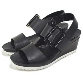 [サヴァサヴァ] ウェッジソール サンダル 2820091 ブラック(BL) LL(24.0-24.5) バックストラップ サンダル レディース 歩きやすい 痛くない