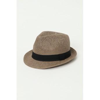 帽子全般 - ikka メッシュ編み中折れハット