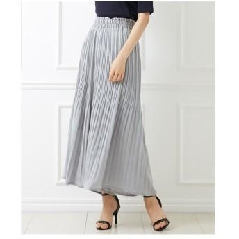 パンツ ワイド ガウチョ レディース ビンテージサテンで大人っぽく スカート 見えガウチョ M/L ニッセン