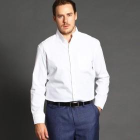 [マルイ] <大きいサイズ>ドビー織り長袖スタンドカラーシャツ/ムッシュニコル(セレクト)(MONSIEUR NICOLE SELECT)