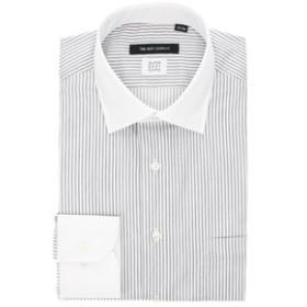 【THE SUIT COMPANY:トップス】【THERMO LITE】クレリック&ワイドカラードレスシャツ ストライプ 〔EC・BASIC〕