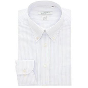 【THE SUIT COMPANY:トップス】【THERMO LITE】ボタンダウンカラードレスシャツ ストライプ 〔EC・FIT〕