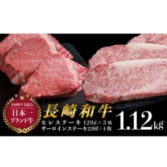 長崎和牛ヒレステーキ・サーロインステーキ食べ比べセット