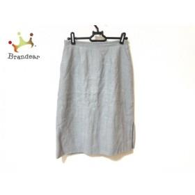 ランバン LANVIN スカート サイズ38 M レディース 美品 グレー La Collection  値下げ 20191129
