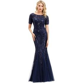 Ever-Pretty 結婚式ドレス レース フォーマル ワンピース パーティー ドレス ロングドレス 二次会 大きいサイズ