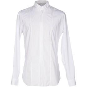 《セール開催中》PAOLO PECORA メンズ シャツ ホワイト 42 コットン 94% / ポリウレタン 6%