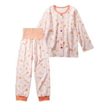 スムース腹巻付きパジャマ(女の子 ベビー服 子供服) キッズパジャマ