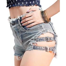 Qiangjinjiu Women's Cut Off Denim Jeans Shorts Mini Hot Pants Clubwear 1 S
