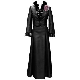披露宴用母親ドレス パーティードレス 2点セット ボレロ付き 2つタイプ 多色 結婚式 ママのドレス ロングドレス 新婦の母ドレス-7-ブラック