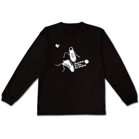 [ビーファイブ] Tシャツ 長袖 BF-TEE-PLAYING-LS-BLK (LL, ブラック/ホワイト(シューズロゴ))