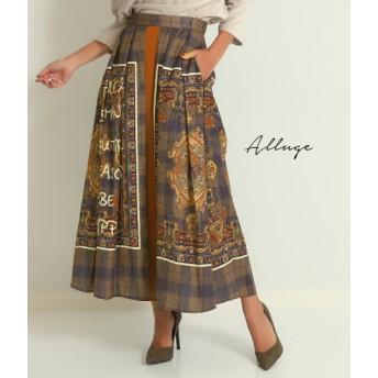 ANAP(アナップ)パネルプリントレイヤードタックフレアスカート