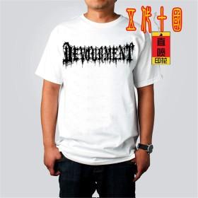 LALATP Devourment デヴォアメント ロックTシャツ バンドTシャツ メンズ/レディース Tシャツ/夏服 スポーツ Tシャツ ブラック/半袖 Tシャ