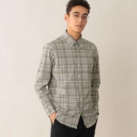 【ポール・スチュアート メン(Paul Stuart MEN)】 モノトーンチェックシャツ モノトーンチェックシャツ オフホワイト