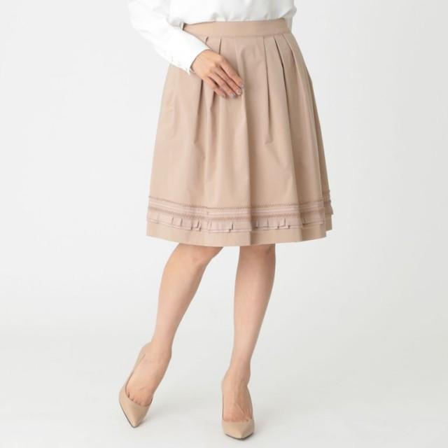 【トゥー ビー シック(TO BE CHIC)】 【ウォッシャブル】ゼフィールタフタスカート 【ウォッシャブル】ゼフィールタフタスカート ピンク