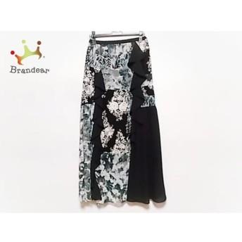 グレースコンチネンタル ロングスカート サイズ36 S レディース 美品 黒×白×グレー 新着 20190902