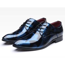 [Florai-JP] メンズ ビジネスシューズ 紳士靴 革靴 エナメル レースアップ 歩きやすい コンフォート 大きいサイズ ローカット 屈曲性 快適 蒸れない 滑り止め 成人式 入社式 冠婚葬祭 抗菌 耐久性 23.5-30.0cm