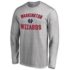 Fanatics Branded Washington Wizards Ash Victory Arch Long Sleeve T-Shirt スポーツ用品 M 【並行輸入品】