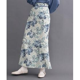 【7%OFF】 メルロー ドットフラワー柄配色パイピングスカート レディース アイボリー FREE 【merlot】 【タイムセール開催中】