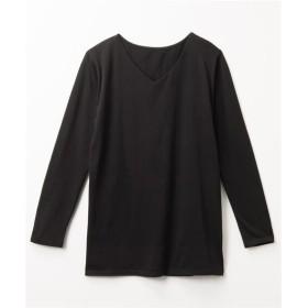 【ゆったりワンサイズ】Vネックゆる長袖トップス (Tシャツ・カットソー)(レディース)T-shirts, T恤