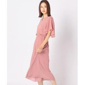 (MEW'S REFINED CLOTHES/ミューズ リファインド クローズ)フレア袖ワンピース/レディース ピンク