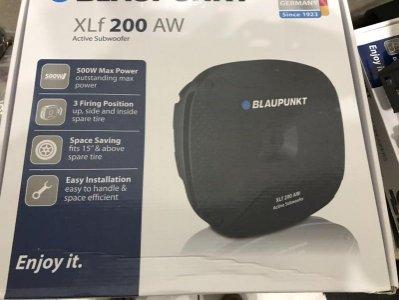 現貨優惠價全新BLAUPUNKT XLF200 AW 鋁合金外殼 12吋主動式重低音 備胎式非中道 jl focal藍點