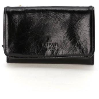 LANVIN en Bleu(BAG) LANVIN en Bleu ランバンオンブルー アメリ 外ファスナー三つ折り財布 財布,ブラック