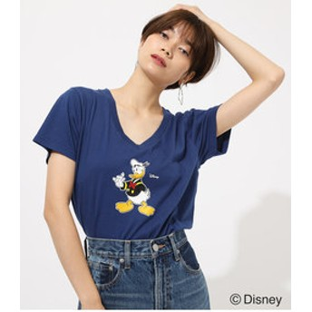 【AZUL by moussy:トップス】HI DONALD Vneck TEE