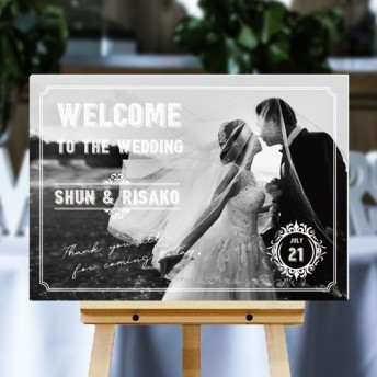 【ヴィンテージ】 ウェルカムボード / wb3 / 縦横OK / 結婚式 / ウェルカムボード / A4