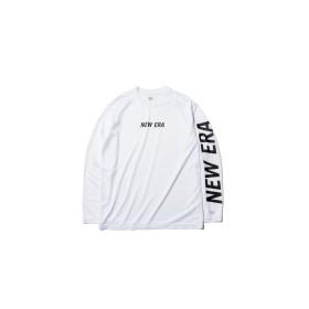 NEW ERA ニューエラ 長袖 テック Tシャツ ニューエラ フロント & スリーブ ホワイト × ブラック Performance Apparel ロンT 長袖 ウェア メンズ レディース X-Small 12156017 NEWERA