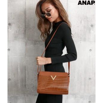 ANAP アナップ Vプレート3パターンショルダーバッグ