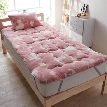 布団カバー シーツ 敷きパッド パッドシーツ X66 ボリューム敷きパッド 「ピンク」