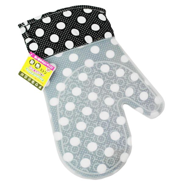 日本矽膠隔熱手套-黑點點-1隻入